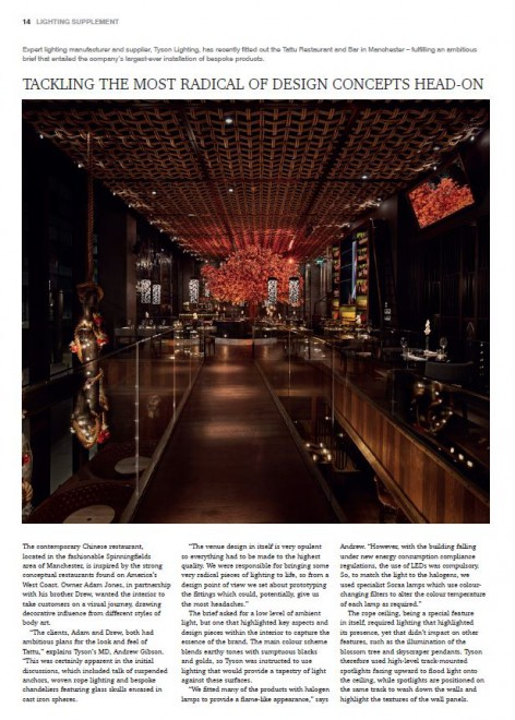 Hospitality Interiors Lighting Supplement Sept 2015